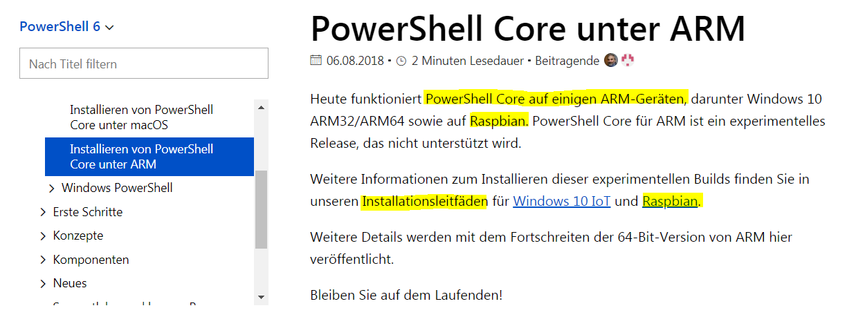 MS Powershell 6 dengan Raspberry Pi2 / Pi3